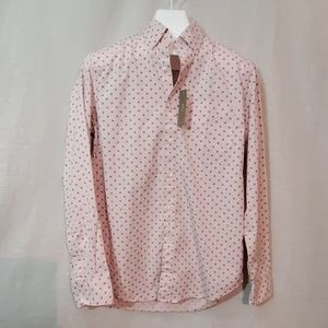 J. Crew Pink and Navy Dress Shirt NWT